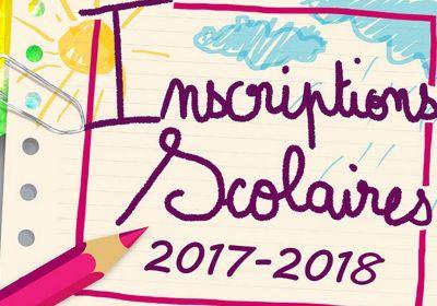 Inscriptions scolaires 2017/2018