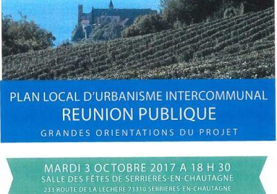 Plan Local d' Urbanisme Intercommunal : Réunion Publique