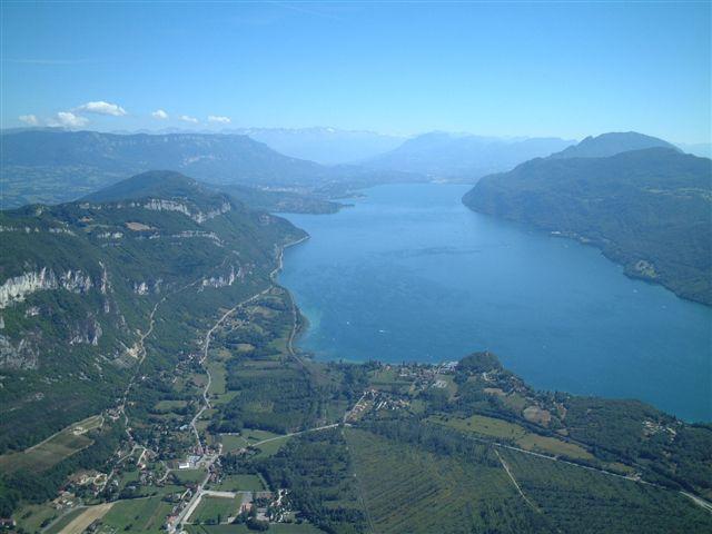 Photo aérienne de la commune de Chindrieux