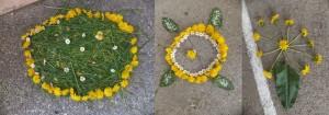 land art fleurs chindrieux
