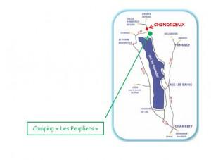 plan accès camping savoie lac bourget